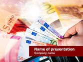 Financial/Accounting: Euro Money PowerPoint Template #00681