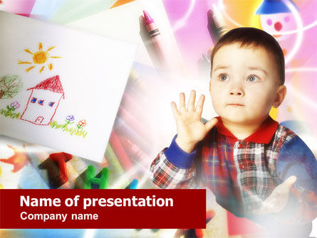 Education & Training: Small Child PowerPoint Template #00682