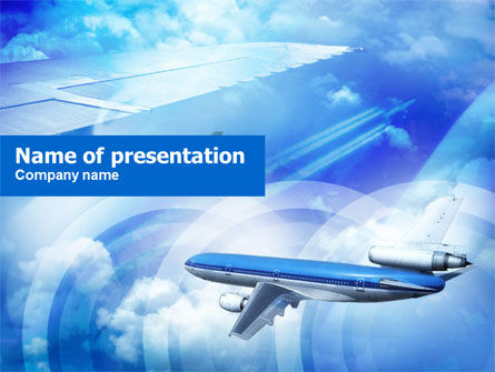Plane PowerPoint Template, 00683, Cars and Transportation — PoweredTemplate.com