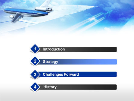 Plane PowerPoint Template, Slide 3, 00683, Cars and Transportation — PoweredTemplate.com