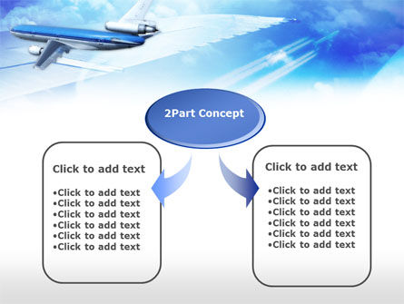 Plane PowerPoint Template, Slide 4, 00683, Cars and Transportation — PoweredTemplate.com