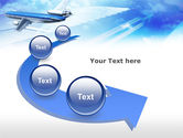 Plane PowerPoint Template#6