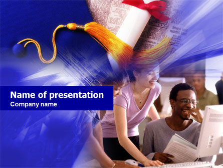 Graduate Job PowerPoint Template, 00686, Education & Training — PoweredTemplate.com