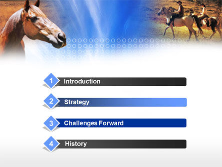Horse PowerPoint Template, Slide 3, 00687, Agriculture — PoweredTemplate.com