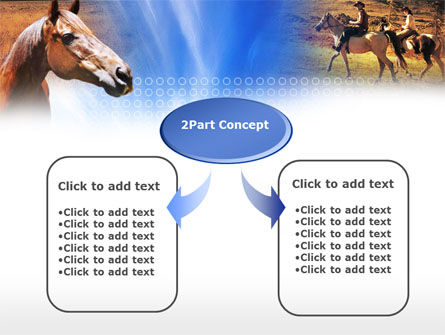 Horse PowerPoint Template, Slide 4, 00687, Agriculture — PoweredTemplate.com