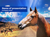 Agriculture: Horse PowerPoint Template #00687