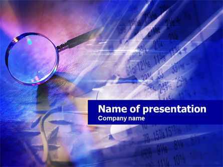 Financial Investigation PowerPoint Template, 00688, Abstract/Textures — PoweredTemplate.com