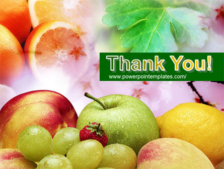 Fresh Fruits Of Summer PowerPoint Template Slide 20