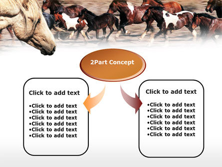 Wild Horses PowerPoint Template, Slide 4, 00690, Animals and Pets — PoweredTemplate.com