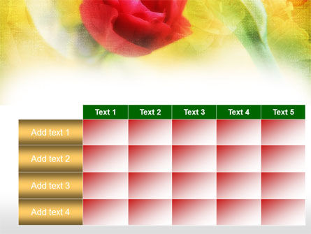 Red Roses PowerPoint Template Slide 15