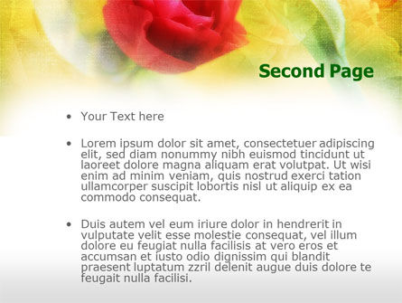 Red Roses PowerPoint Template Slide 2