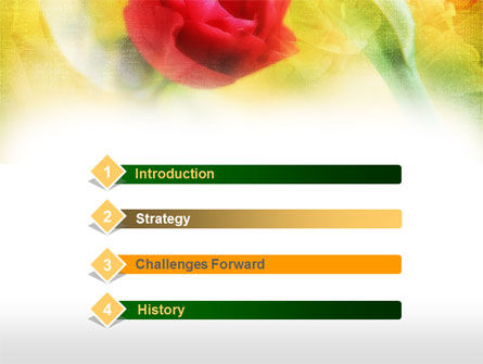 Red Roses PowerPoint Template Slide 3