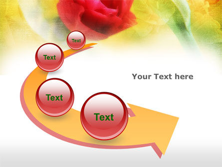 Red Roses PowerPoint Template Slide 6