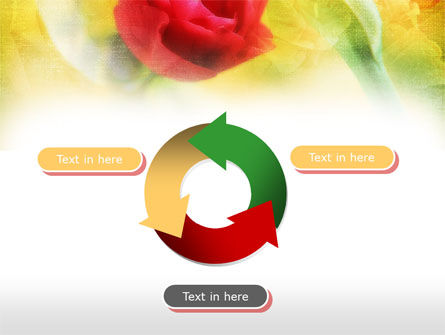 Red Roses PowerPoint Template Slide 9