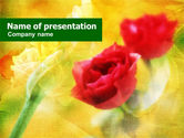 Holiday/Special Occasion: Red Roses PowerPoint Template #00692