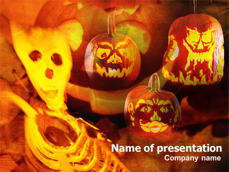 Holiday/Special Occasion: Halloween Decoration PowerPoint Template #00694