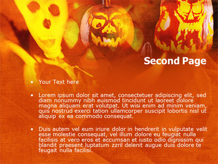 Halloween Decoration PowerPoint Template, Slide 2, 00694, Holiday/Special Occasion — PoweredTemplate.com
