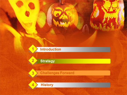 Halloween Decoration PowerPoint Template, Slide 3, 00694, Holiday/Special Occasion — PoweredTemplate.com