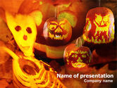 Holiday/Special Occasion: Templat PowerPoint Hiasan Halloween #00694