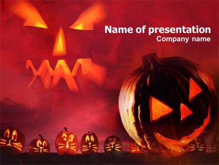 Stingy Jack And Jack O'Lantern Halloween Night PowerPoint Template, 00695, Holiday/Special Occasion — PoweredTemplate.com