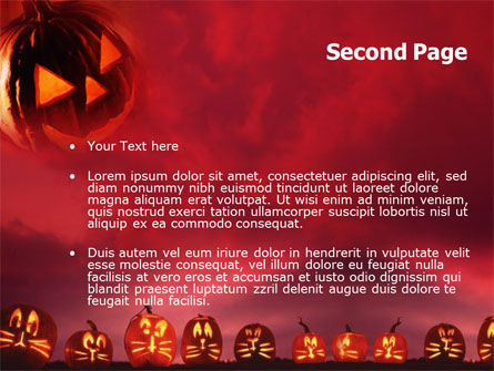 Stingy Jack And Jack O'Lantern Halloween Night PowerPoint Template, Slide 2, 00695, Holiday/Special Occasion — PoweredTemplate.com