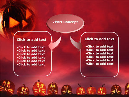 Stingy Jack And Jack O'Lantern Halloween Night PowerPoint Template, Slide 4, 00695, Holiday/Special Occasion — PoweredTemplate.com