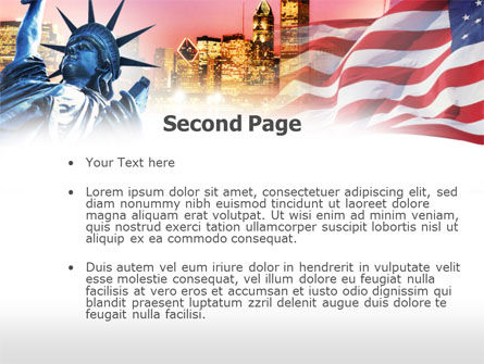 Liberty Enlightening the World PowerPoint Template Slide 2