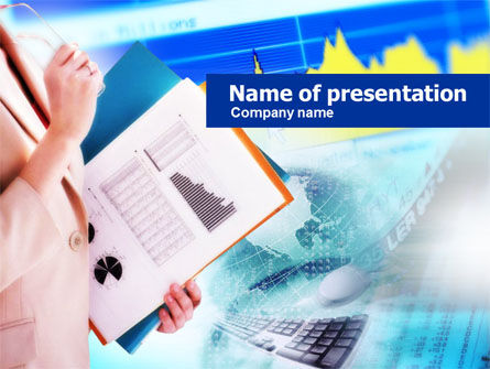 Ready To Report PowerPoint Template, 00699, Business — PoweredTemplate.com
