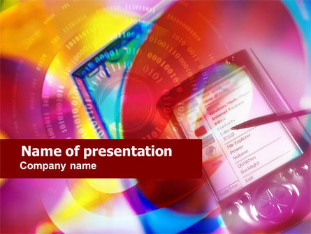 Technology and Science: Palmtop PowerPoint Template #00704