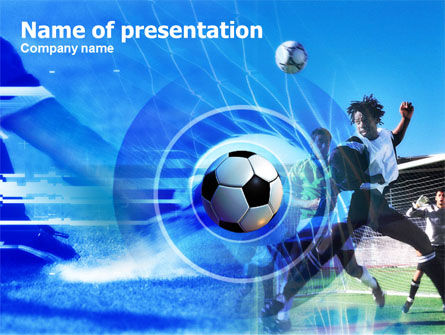 Football Kicking PowerPoint Template, 00705, Sports — PoweredTemplate.com