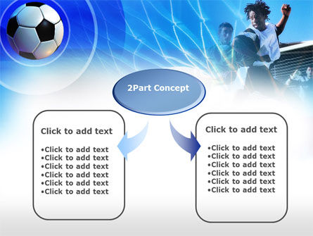 Football Kicking PowerPoint Template, Slide 4, 00705, Sports — PoweredTemplate.com
