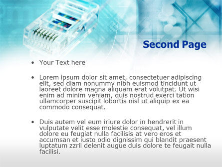 Internet Cable PowerPoint Template, Slide 2, 00707, Telecommunication — PoweredTemplate.com