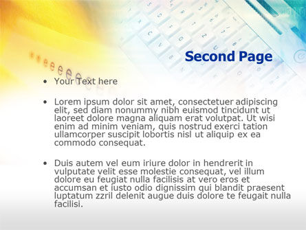 Yellow Blue Keyboard PowerPoint Template, Slide 2, 00713, Technology and Science — PoweredTemplate.com