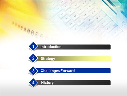 Yellow Blue Keyboard PowerPoint Template, Slide 3, 00713, Technology and Science — PoweredTemplate.com