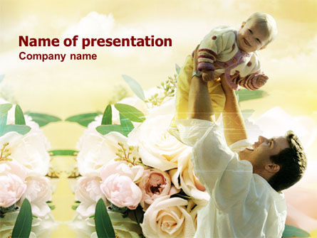 Holiday/Special Occasion: Modello PowerPoint - Padre felice #00714