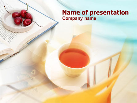 Food & Beverage: Cup Of Tea PowerPoint Template #00723