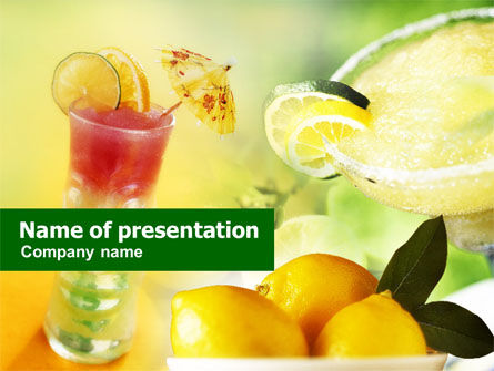 Food & Beverage: Templat PowerPoint Koktail #00726