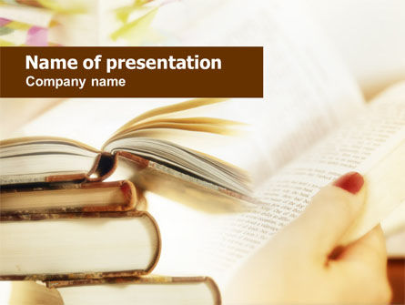 Education & Training: Book Pages PowerPoint Template #00727
