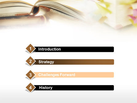 Book Pages PowerPoint Template, Slide 3, 00727, Education & Training — PoweredTemplate.com