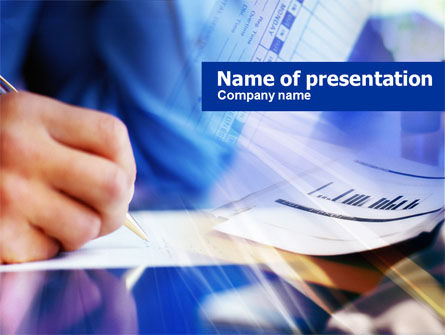 Business: Accounting Reports PowerPoint Template #00728