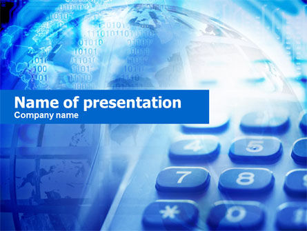 Telecommunication: Telephone Keypad PowerPoint Template #00729