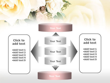 Tea Roses Wedding Bouquet PowerPoint Template Slide 13