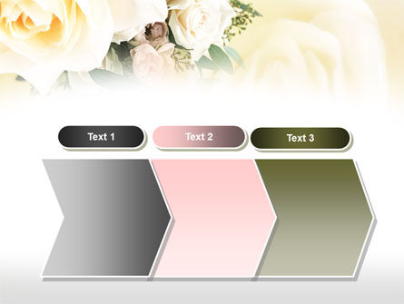 Tea Roses Wedding Bouquet PowerPoint Template Slide 16