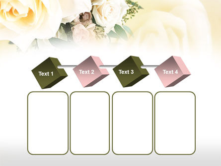 Tea Roses Wedding Bouquet PowerPoint Template Slide 18