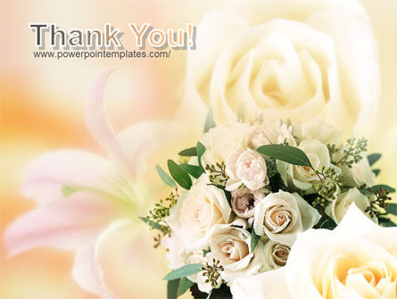 Tea Roses Wedding Bouquet PowerPoint Template Slide 20