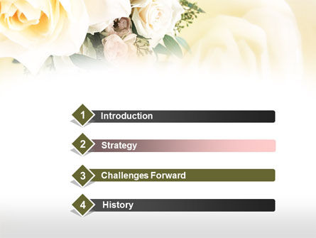 Tea Roses Wedding Bouquet PowerPoint Template Slide 3