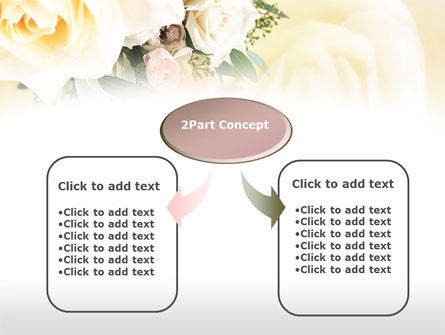 Tea Roses Wedding Bouquet PowerPoint Template Slide 4