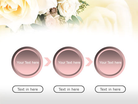 Tea Roses Wedding Bouquet PowerPoint Template Slide 5
