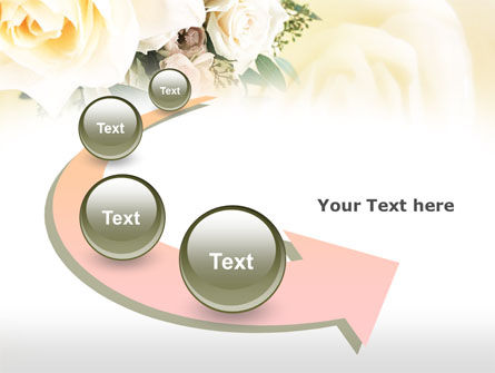 Tea Roses Wedding Bouquet PowerPoint Template Slide 6