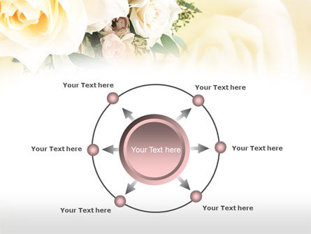 Tea Roses Wedding Bouquet PowerPoint Template Slide 7